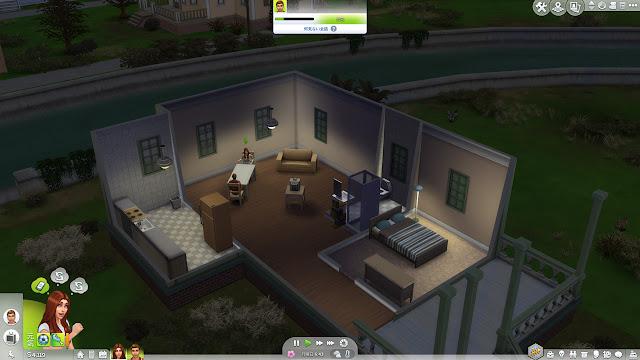 sims4 PC版プレイ画面