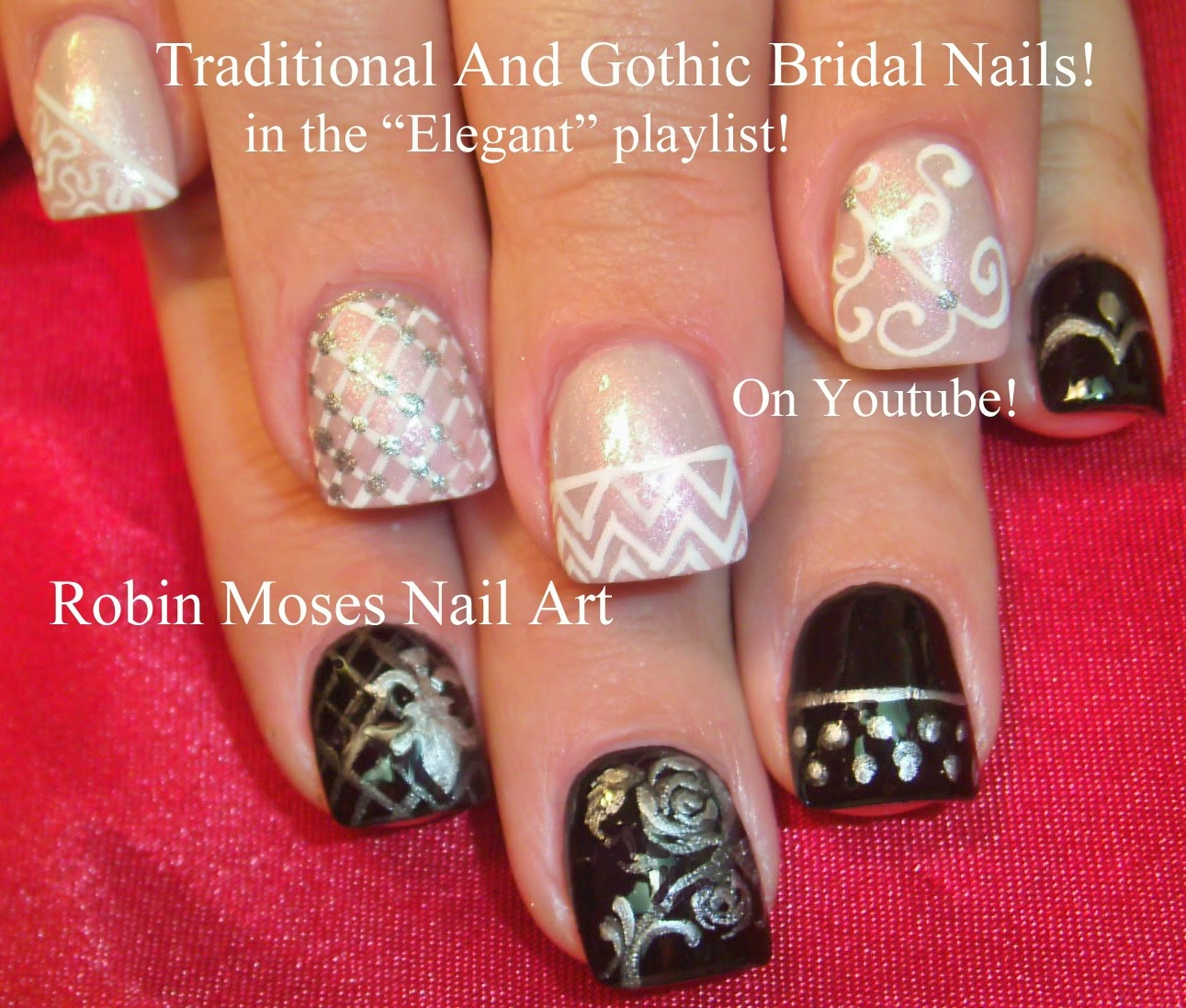"2014 Nail Art Ideas For Prom: Nail Art By Robin Moses: ""black And White Nails"" ""nail Art"