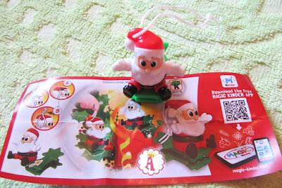 Фигурка деда Мороза из киндера-сюрприза Рождество на елку