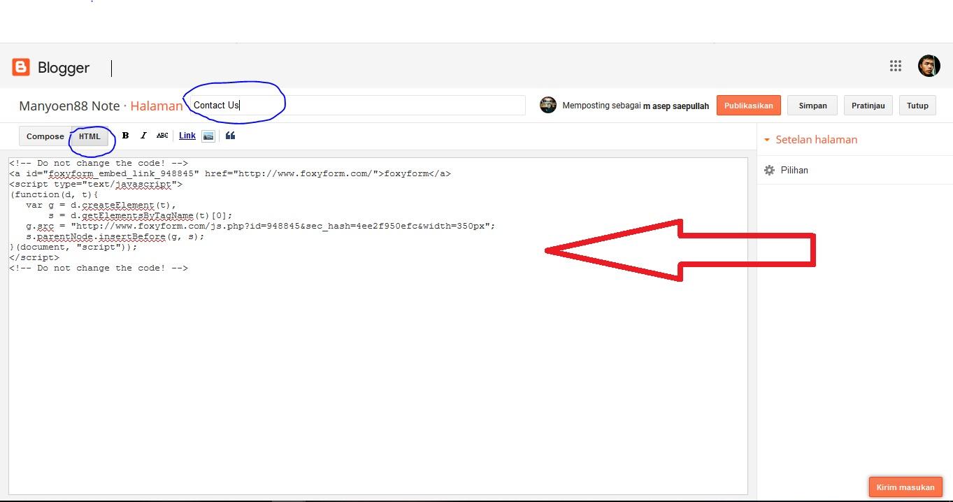 Contact Us Web Page >> Cara Membuat Contact Us Dan Fungsiny Pada Blog Manyoen88 Note