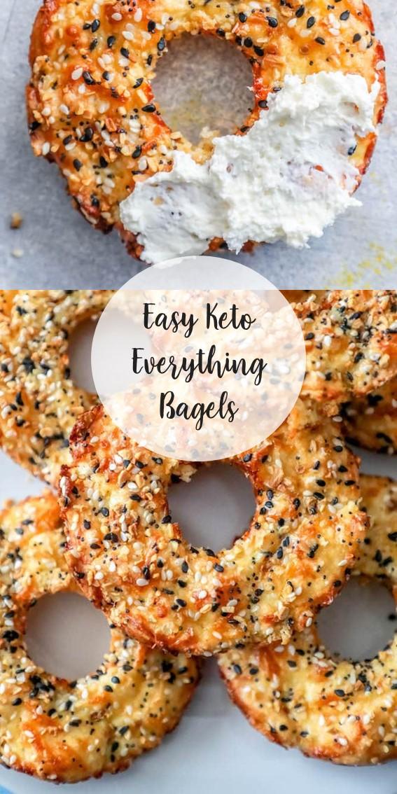 Easy Keto Everything Bagels #Bagels #Keto #LowCarb #Cheese #Eggs #Snack