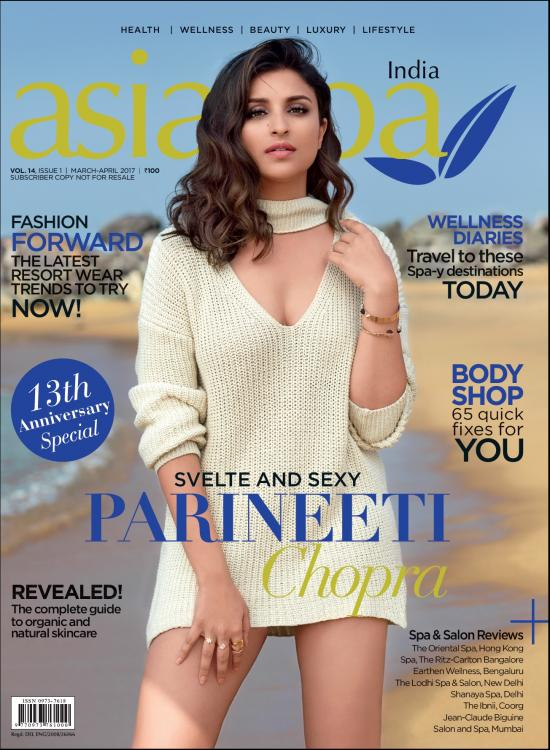 Parineeti Chopra on the cover of Asia Spa Magazine April 2017