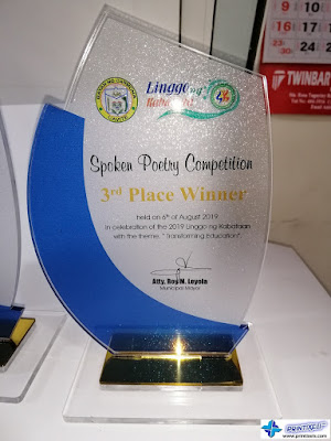 Spoken Poetry Competition Acrylic Plaque Philippines