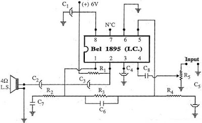 Amplifier Using BEL1895 I.C