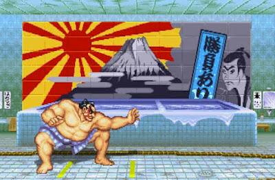 E. Honda nel suo stage di ''Street Fighter II''