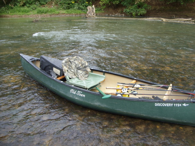 North Carolina River Fishing and Canoeing with Mack: Canoes