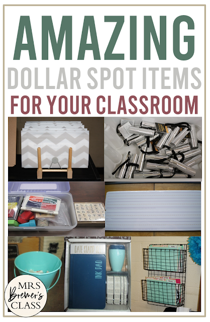 Dollar Spot items to get for a budget friendly classroom