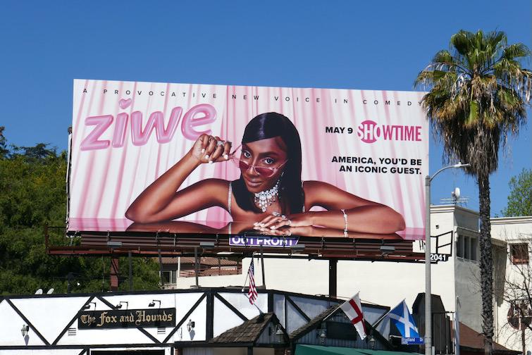 Ziwe series premiere billboard
