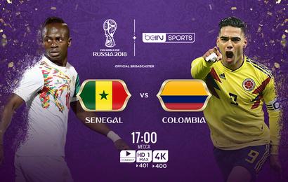 نتيجة وملخص أهداف مباراة السنغال وكولومبيا اليوم في كأس العالم 2018 مجانا علي النايل سات