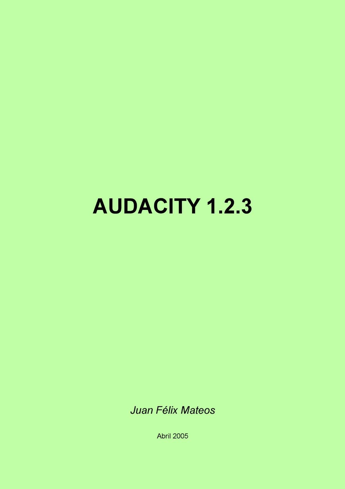Audacity v.1.2.3