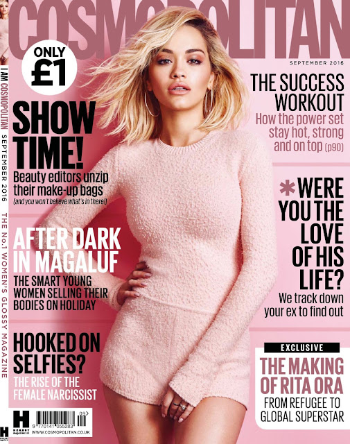 Actress, Singer, @ Rita Ora - Cosmopolitan UK September 2016