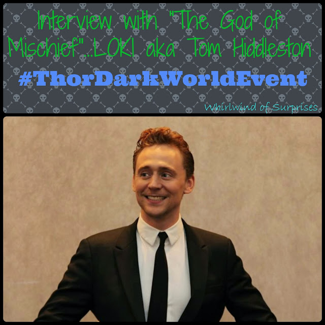 Tom Hiddleston on his role, Loki, The God of Mischief, Thor: The Dark World, #ThorDarkWorldEvent