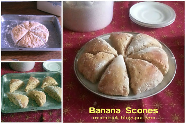 Banana Scones @ treatntrick.blogspot.com