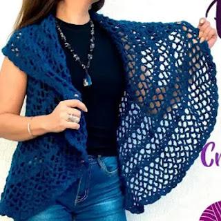 Chaqueta circular a Crochet