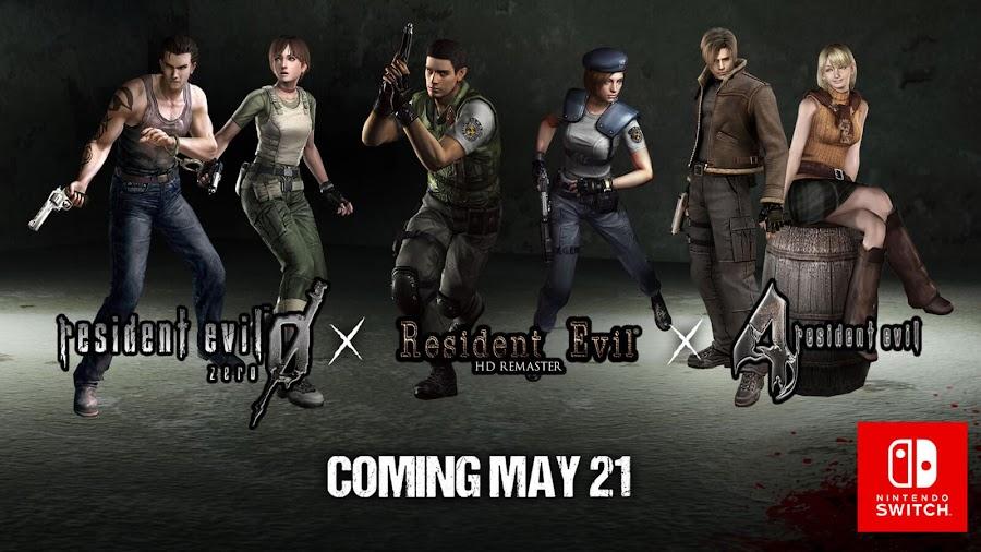 resident evil zero 4 nintendo switch release date capcom