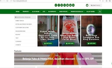 Website toko online - Panserba