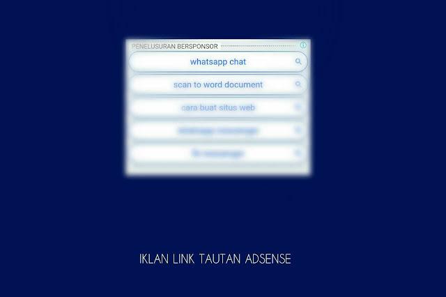 cara buat iklan link tautan adsense