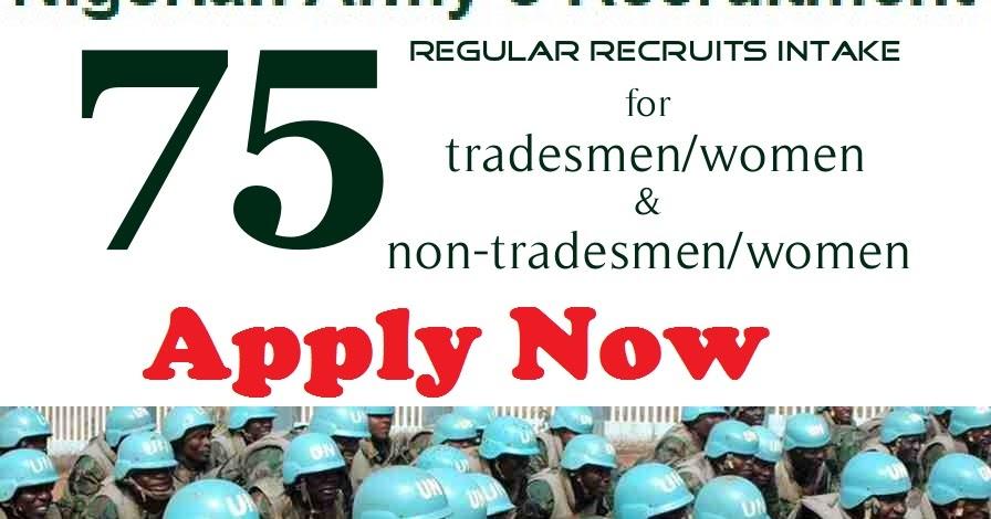Nigerian Army Recruitment 20162017 Portal Download Or Fill