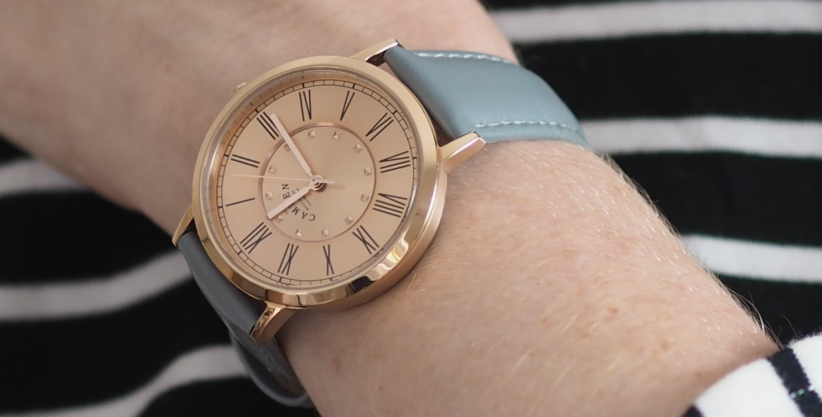 Camden watch company no 27 in grey and rose gold