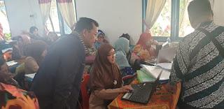 Rekonsiliasi Dana BOS 2019, Plt. Kadisdik Batubara Hadir Mendadak
