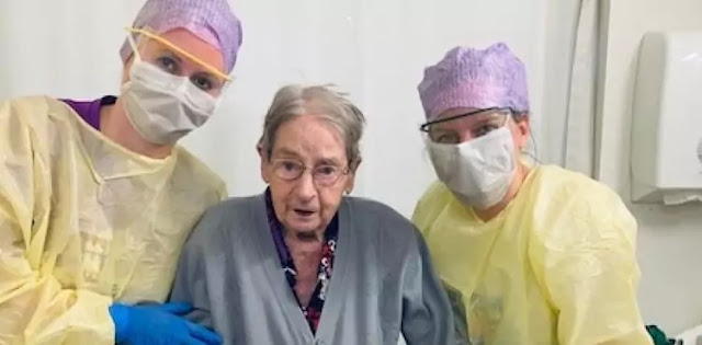 The 101-year-old woman also defeated the coronavirus