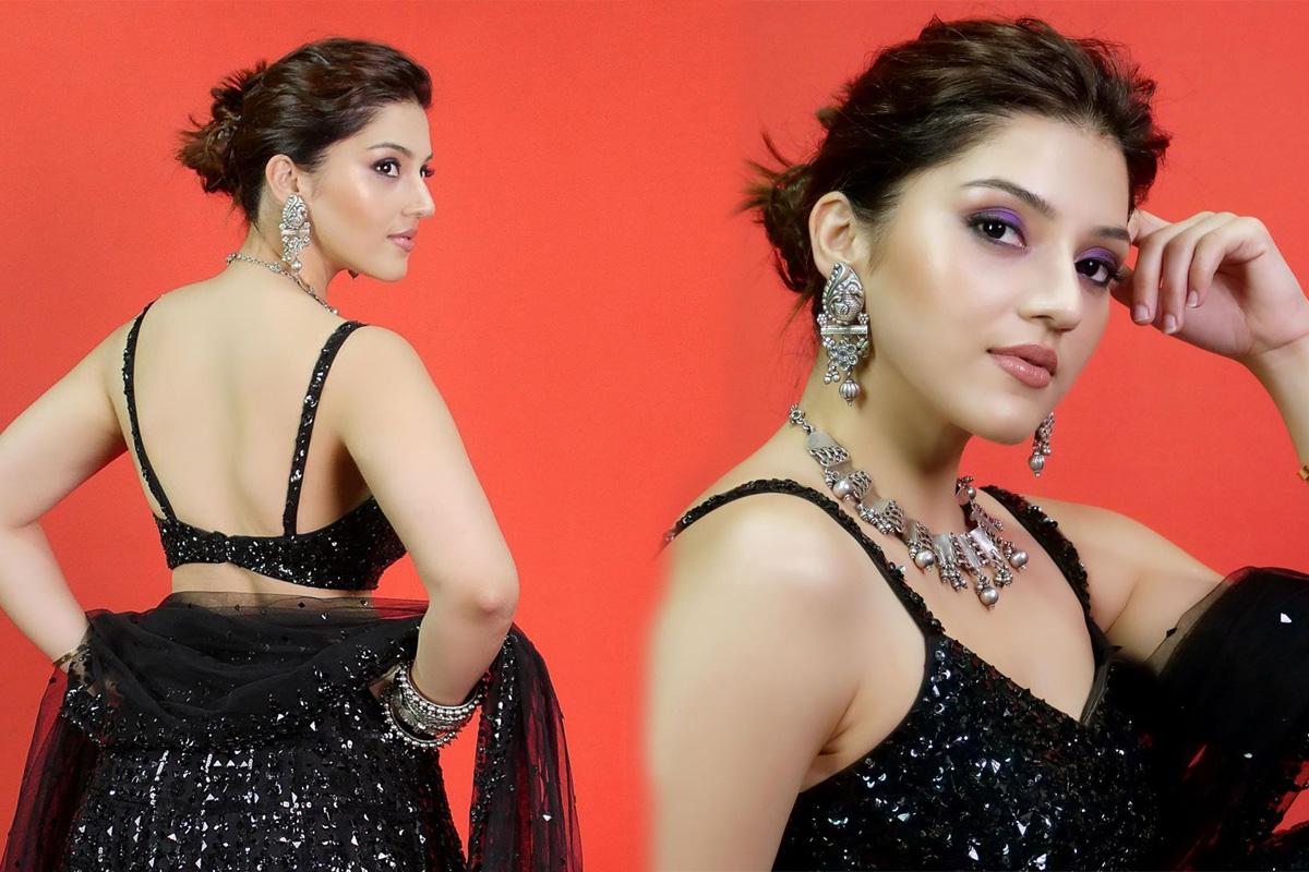 Actress Mehreen Pirzada Latest Hot Pics In Black