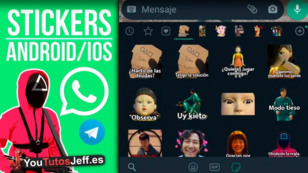 El Juego del CALAMAR STICKERS Whatsapp | Android y iOS