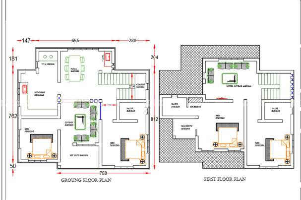 Latest Model 4 Bedroom Contemporary Home Plan in 1667 Sqft for 27 ...