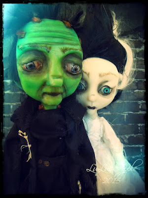 frankenstein and bride art dolls lulusapple lulu lancaster art dolls