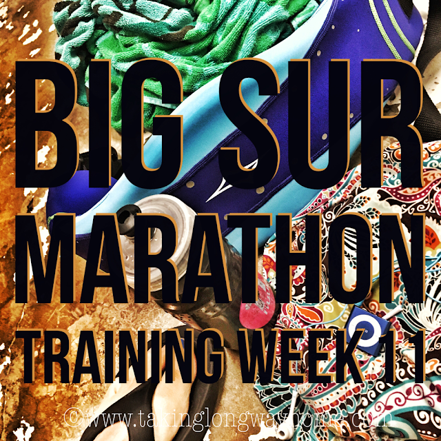 Big Sur Marathon Training Week 11