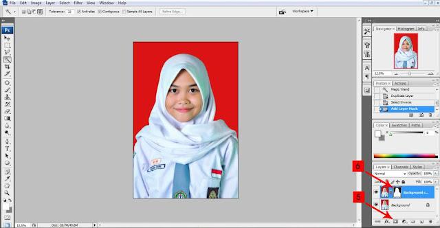 Cara Mengganti Background Pas Foto