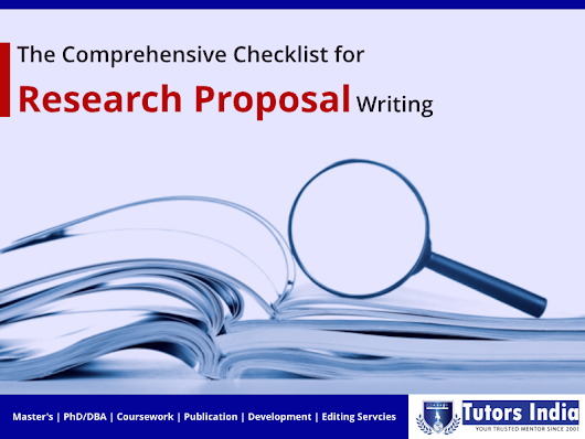 The Comprehensive Checklist for Research Proposal Writing