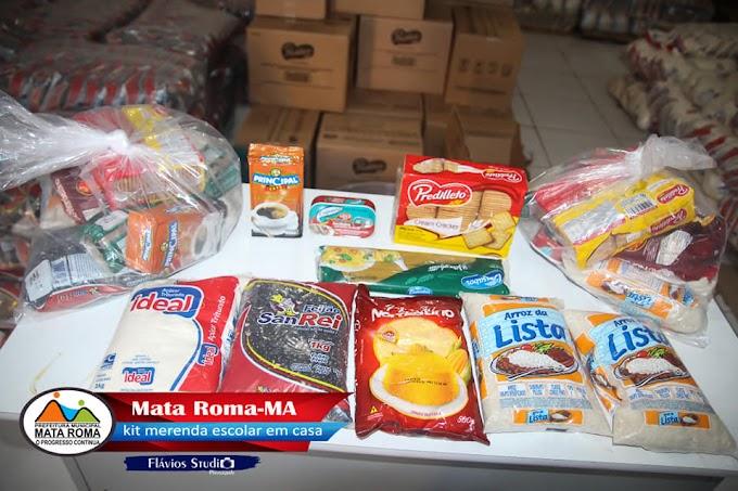 """""""Escola Fechada a Merenda é em Casa"""", garante Prefeitura Municipal de Mata Roma, em mais uma entrega de Kits de alimentos."""