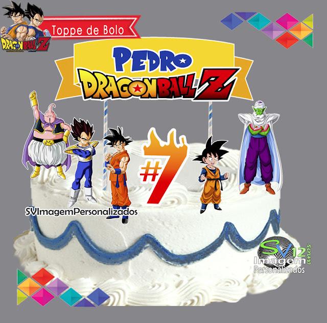 Dragon Ball Z dicas e ideias para decoração de festa personalizados topo de bolo