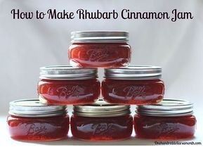 How To Make Rhubarb Cinnamon Jam