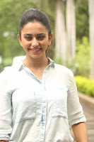 Rakul Preet Singh in Jeans and White Shirt At Jaya Janaki Nayaka le Logo Launch ~  Exclusive 059.JPG