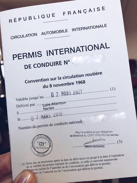 Międzynarodowe PRawo Jazdy - wersja francuska