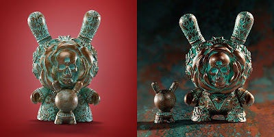 "The Clairvoyant Patina Edition Dunny 3"" Vinyl Figure by J*RYU x IamRetro x Kidrobot"
