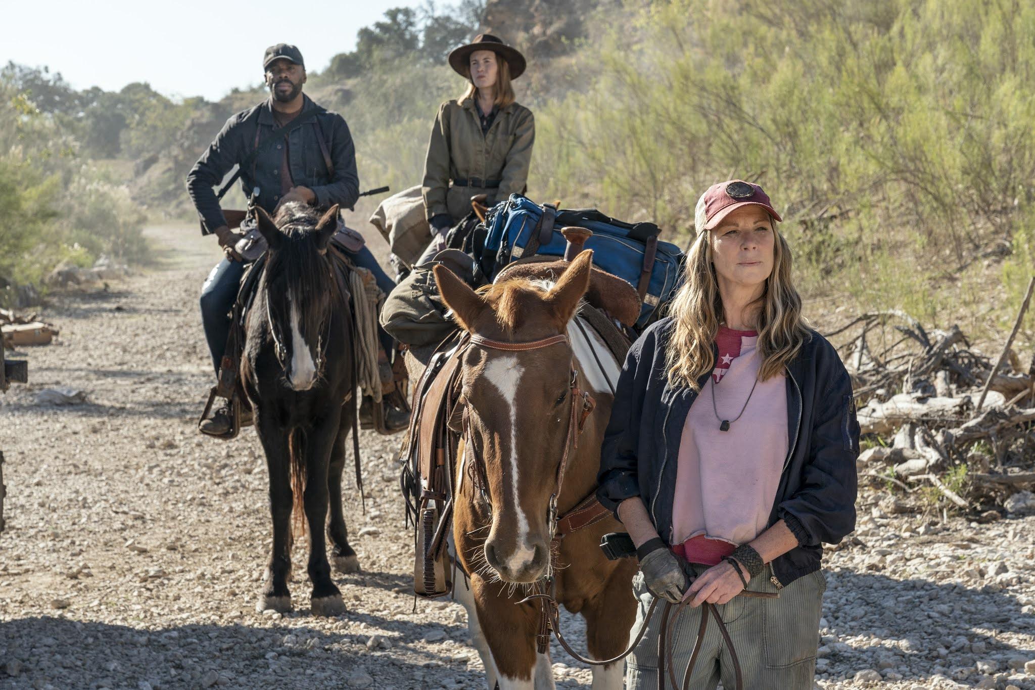 Victor Strand y Sarah representan a sus respectivos grupos en la reunión en Fear The Walking Dead