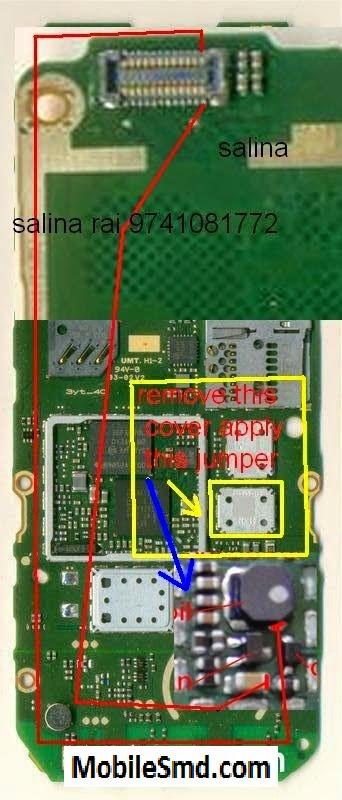 Nokia 206 Lcd light Jumper Solution