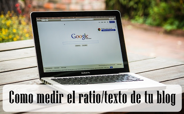 ratio texto de un blog