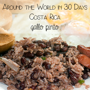 Rice and beans from Costa Rica, as part of Around the World in 30 Days- Geography and cultural activities for toddlers and preschoolers