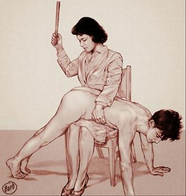 women spanking men cartoons