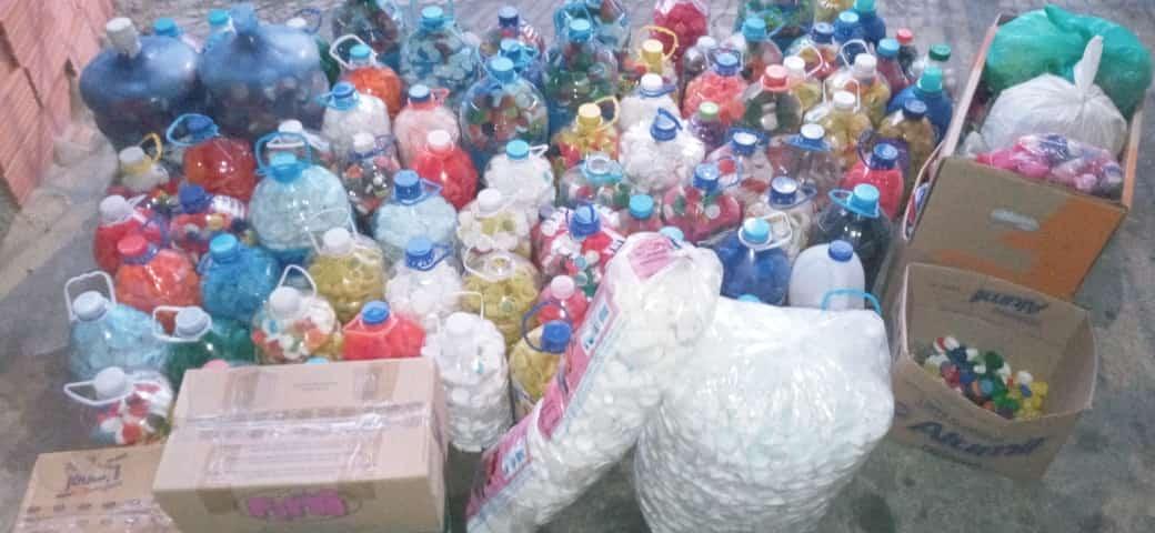 Entrega de Tampinhas ao GUAPA | Retirada no SHD Primeiro Lote de Tampas Plásticas