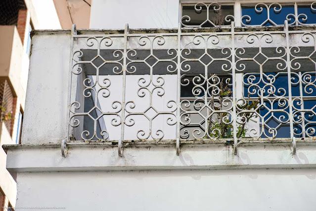 Uma casa na Rua da Glória - detalhe da grade na sacada