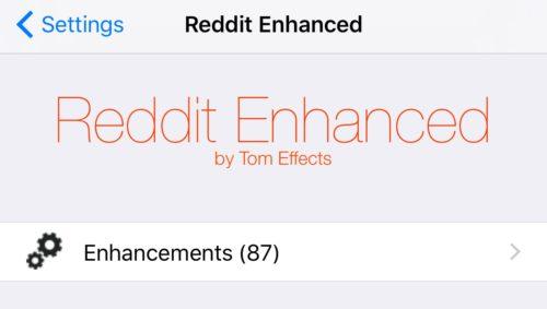 Reddit-Enhancedo Reddit Enhanced is a Tweak That Shall we You Customise the Respectable Reddit App Jailbreak