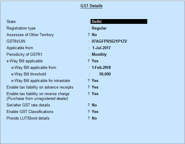 How to Generate E-Way Bill through Tally ERP9 Release 6 4