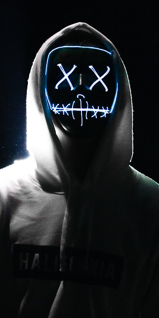 Hoodie mask guy dark background