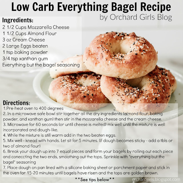 Low Carb Keto Everything bagels by Orchard Girls Blog