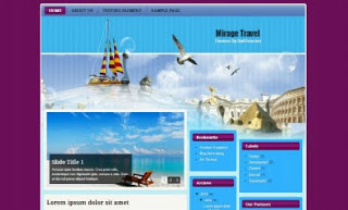 Mirage Travel Blogger Template